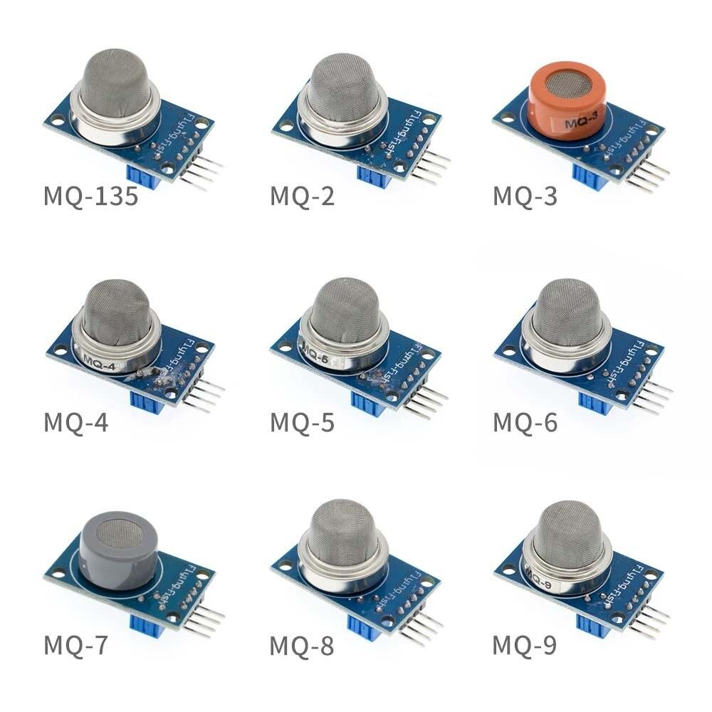 Gas Sensor Module Smoke methane liquefied Detection Alarm Module MQ-4 MQ-6 MQ-8 MQ-9 MQ-135 for Arduino Starter Smart Home
