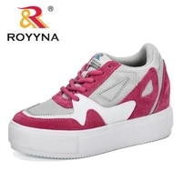 royyna 2020 new style chunky sneakers women fashion platform walking shoes ladies lightweight jogging footwear vulcanize shoes