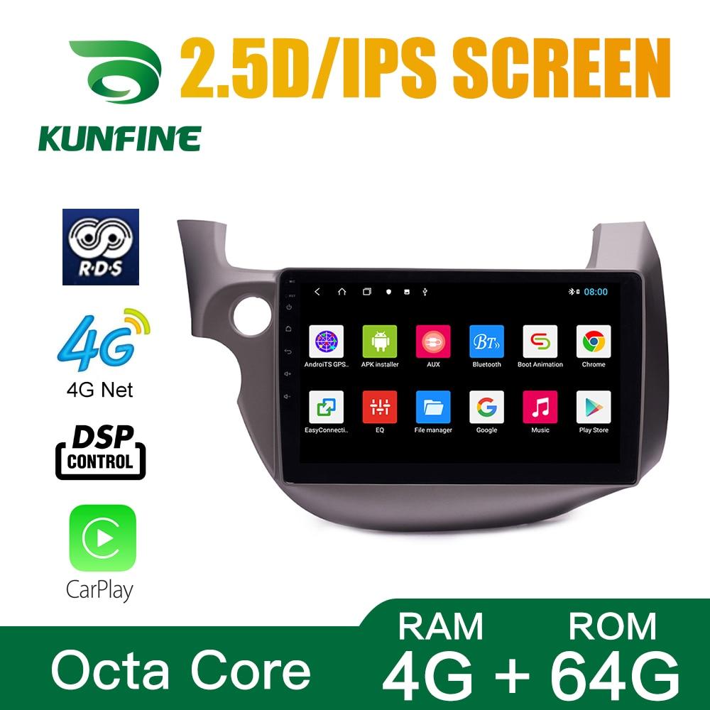 Восьмиядерный Android 10,0 автомобильный DVD GPS навигационный плеер Deckless автомобильный стерео для Honda Fit 2008-2013 радио головное устройство Wifi 64 Гб ROM