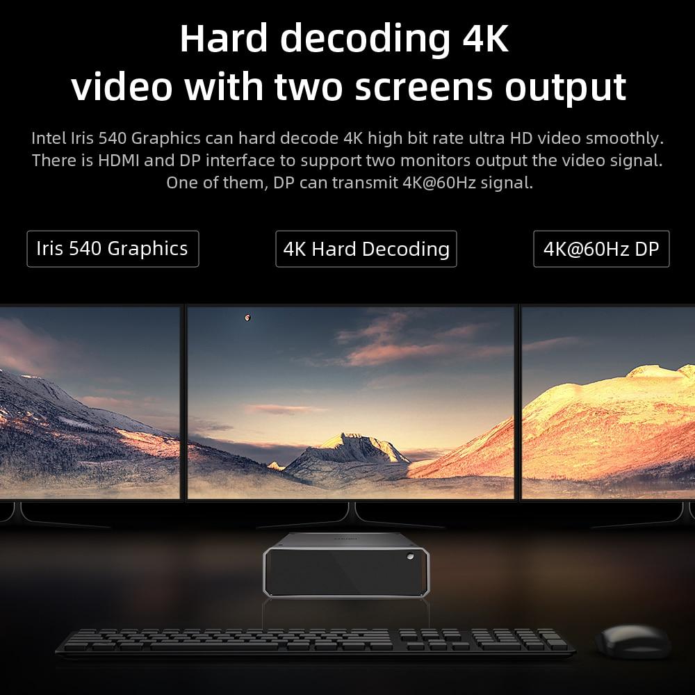 CHUWI  CoreBox X mini Gaming Desktop PC Windows 10 system Intel Core i7-6560U 8GB RAM 256G SSD  Desktop Computer