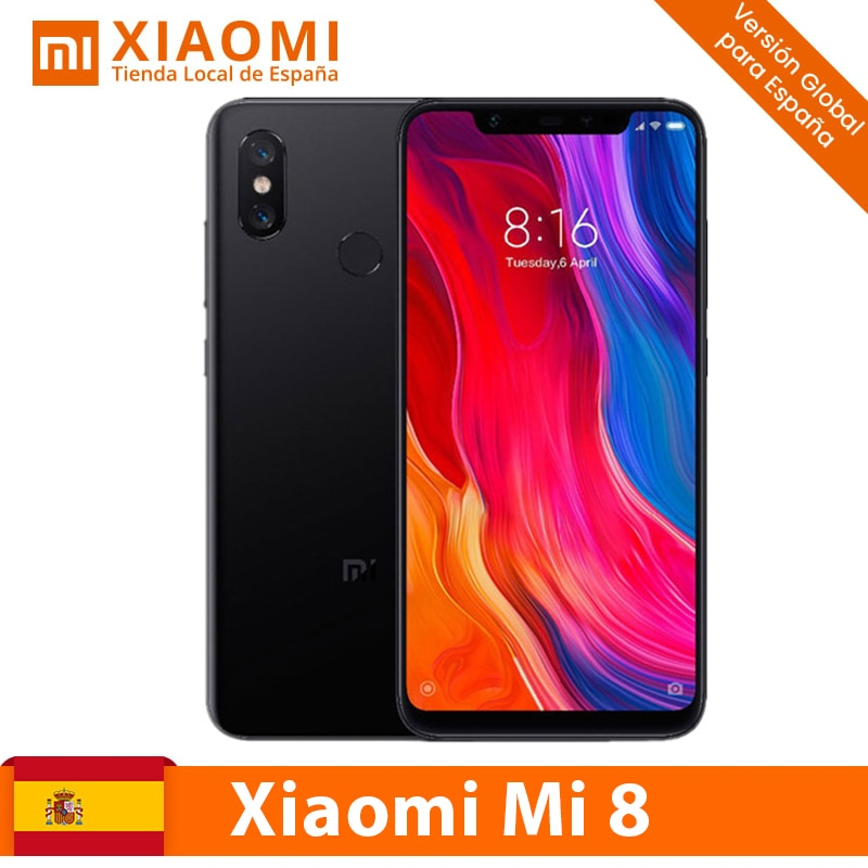 [Versión Global para España] Xiaomi Mi 8 ( Memoria interna de 64GB /128GB, RAM de 6 GB, Cámara trasera de 12 MP+12 MP, Doble Tarjeta SIM, Cámara frontal de 20 MP) Snapgragon 845 Móviles libres