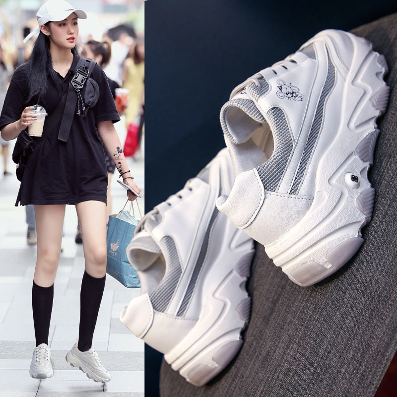 حذاء رياضي نسائي غير رسمي ، حذاء رياضي نسائي ، أحمر ، متوافق مع جميع الطلاب ، موسم الربيع