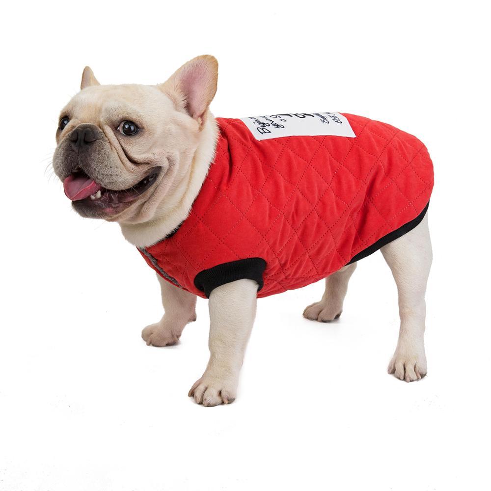 Z38 Warm Pet Dog Clothes Winter Coat Jacket Puppy Pug French Bulldog Clothing Poodle Pet Costume Winter Dog Vest Outfit