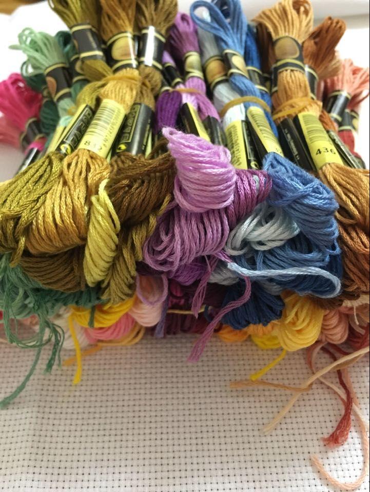 Mm 50 colores de punto de cruz hilo de bordado hilo de coser broches artesanía DIY pulsera trenzada