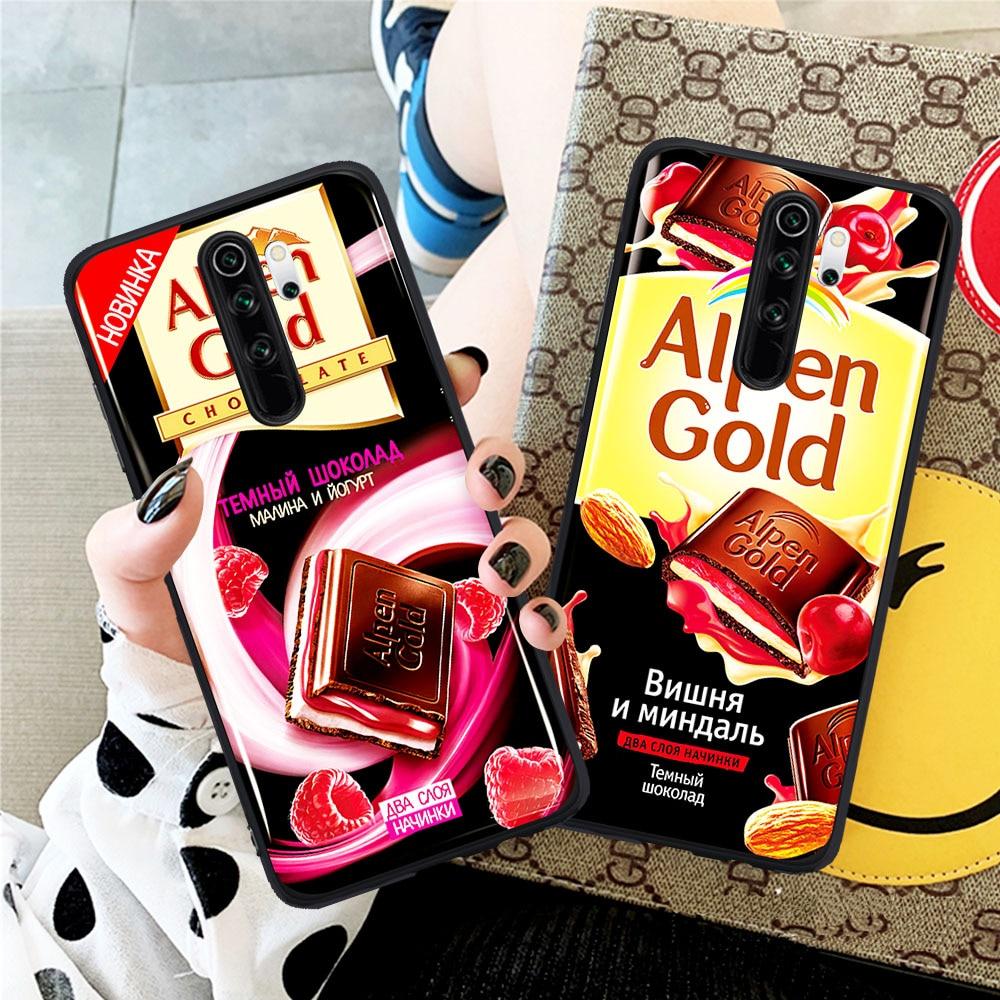 Cute golden ticket alpen ouro chocolate caso de telefone para xiaomi redmi nota 5 6 pro 7 8 pro mi 9t pro k20 pro fundas capa escudo
