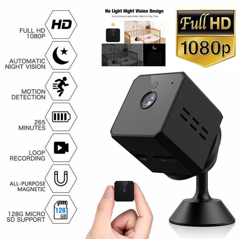 Mini Camera Smallest 1080P Full HD Camcorder Lnfrared Night Vision Micro Cam Motion Detection DV DVR