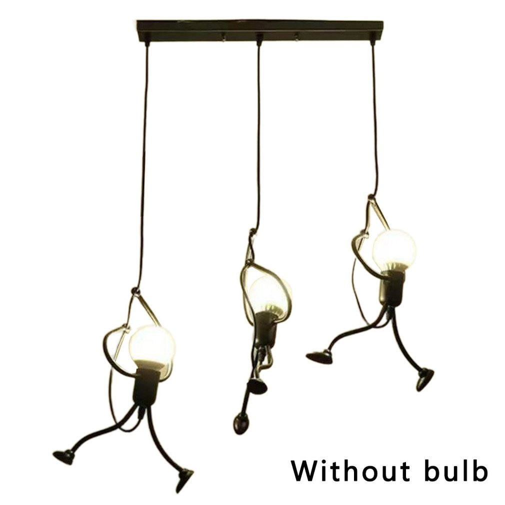 مصباح سقف Led من Iron Man ، تصميم كرتوني ، شكل دمية ، مصباح سقف مزخرف ، مثالي لغرفة المعيشة