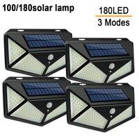 100 180 светодиодный солнечный светильник открытый светодиодный солнечный светильник 2835SMD движения PIR Сенсор солнечной энергии солнца светил...
