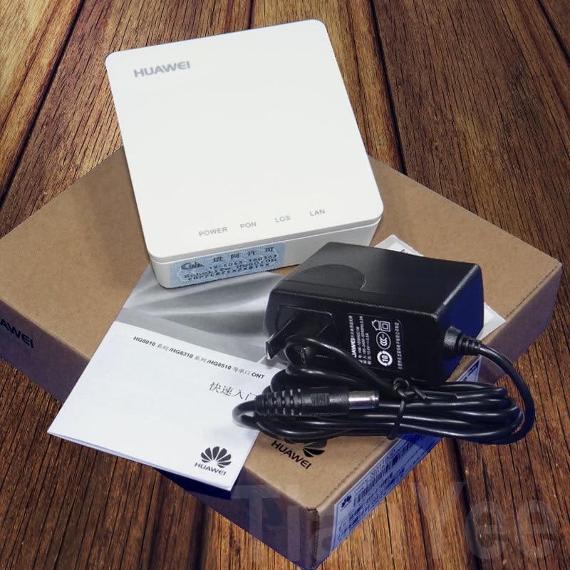 Бесплатная доставка, 10 шт., 14 шт./лот, новинка 90%, б/у, HG8010H EPON ONU ftth волоконно-оптический ONT роутер с мощностью, Подержанный EPON 1GE