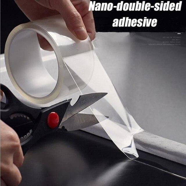 Прозрачная водонепроницаемая лента, многочисленные стирки с помощью волшебных наклеек, двусторонний клей, не оставляет следов