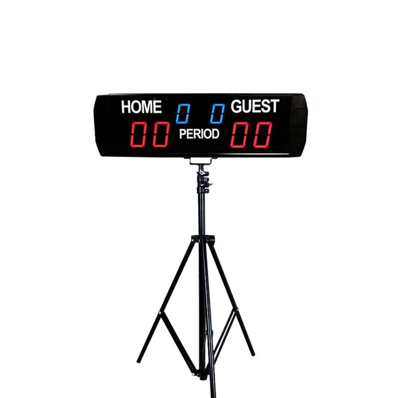 لوحة مكشطة كرة سلة رقمية عالية الجودة ، رقمية ، LED ، إلكترونية ، لتنس الطاولة ، مع حامل
