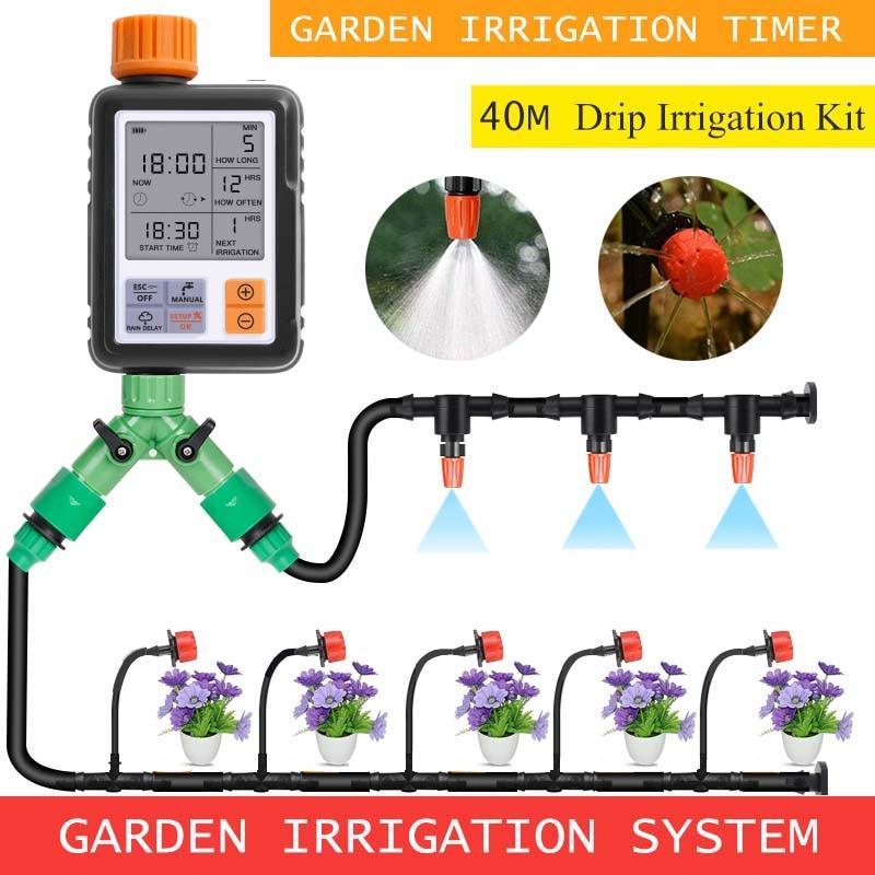 30M Garten Automatische Bewässerung Kit Bewässerung Kit Tropf Bewässerung System Bewässerung Bewässerung Garten Bewässerung Controller