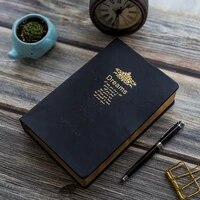 retro super thicken 208 sheets blank notebook journal rim golden vintage bible diary journal planner agenda notepad stationery