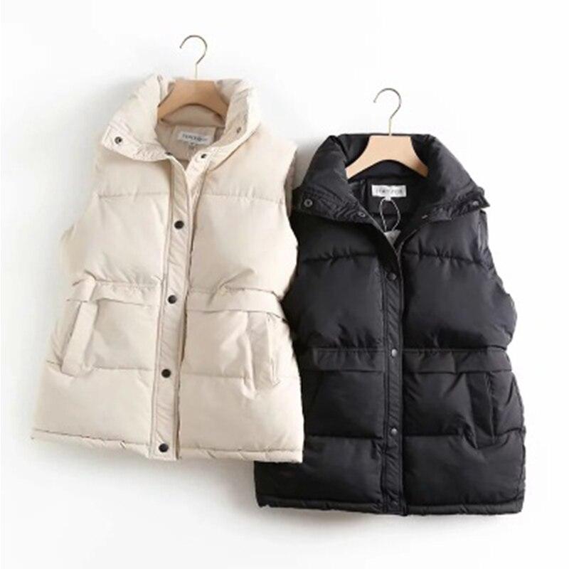 2021 ins traf autumn winter hot sale double pocket mid-length vest women куртка пальто g