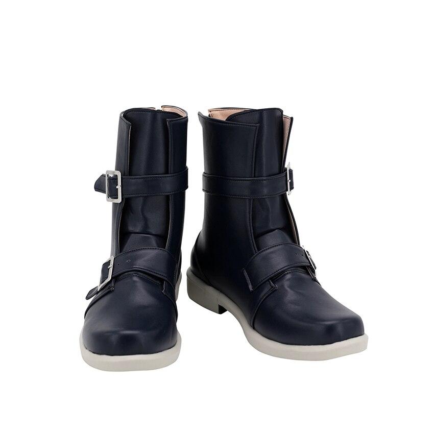 P3 شخصية 3 تأثيري أحذية يوكي ماكوتو أنيمي أحذية منخفضة الكعب كعب سميك أسود الأوسط التمهيد