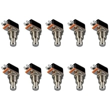 ABGZ-Gitarre Effekte Pedal Box Momentary SPST Taste Stomp Fuß Schalter Push Button Pack von 10