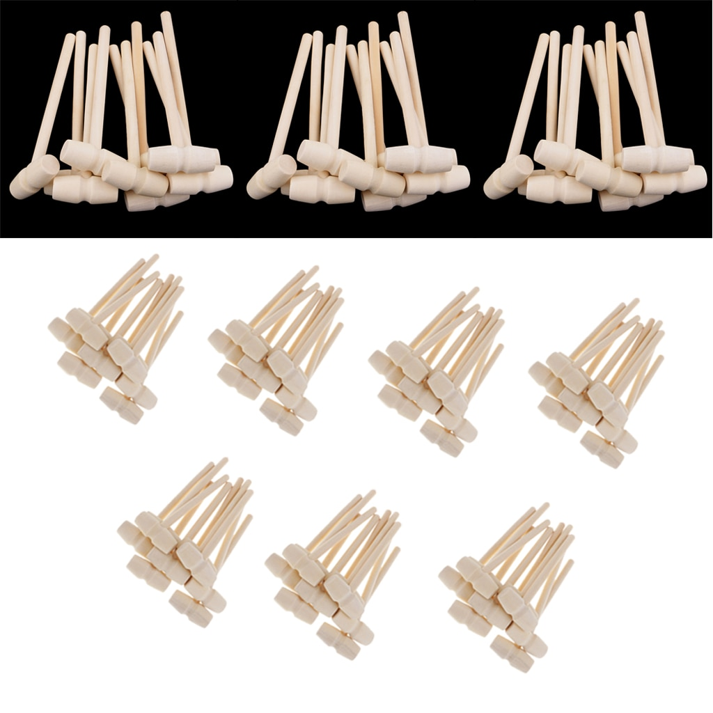 100/80/60/30 PCS MINI Wooden Hammer Mallet 140x43x19mm Crab Lobster Seafood Crackers Kids Toys Funny