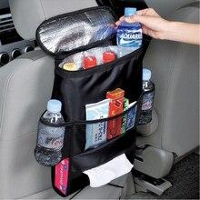 Yeni araba koltuğu sırt çantası bebek organizatör yalıtımlı içecekler soğutucu seyahat saklama çantası,