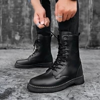 ankle boots men 2020 springautumn fashion casual boots male punk style shoe men lace up casual botas motorcycle unisex boots