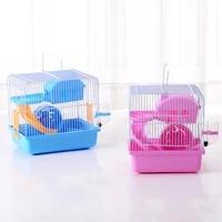 hamster cage toy set drinker 2 layer anti slip my neighbor totoro rabbit nest small pet hamster water bottle tableware supplies