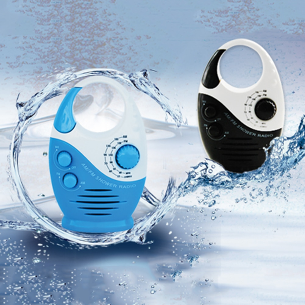 Altavoz para baño volumen ajustable música colgante impermeable botón portátil Insertar tarjeta manija superior Mini ducha Radio AM FM