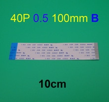 2 Stuks Ffc Fpc Platte Lijn Flexibele Kabel 0.5 Mm Pitch 40 Pin B Reverse Lengte 100 Mm 10 Cm lint Flex Kabel Awm 20624 80C 60V VW-1