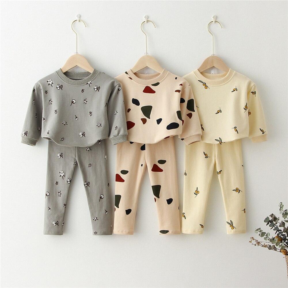 Kids Clothing Sets Sweatshirt Tops+ Pants Spring Toddler Boys Girls Clothes Kids Tracksuit Baby Pajamas Children Boys Clothing