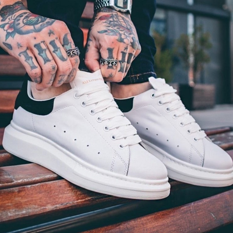 Mais tamanho 43 44 45 tênis masculinos marca de luxo sapatos alexander tenis tênis casual zapatillas hombre chaussure homme n12