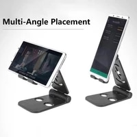 angle adjustable tablet mobile phone holders universal for lazy office fixed desktop bracket portable foldable smartphone stands