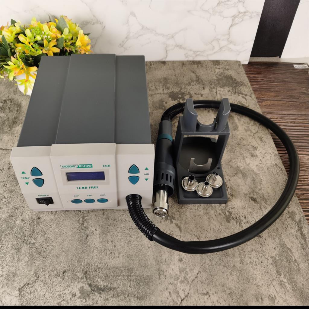 1000 واط الأصلي YAOGONG 861DW الحرارة بندقية خالية من الرصاص محطة لحام الهواء الساخن مجفف شعر لحام محطة اعادة تشغيل الهواء الساخن الهواء الساخن gGun