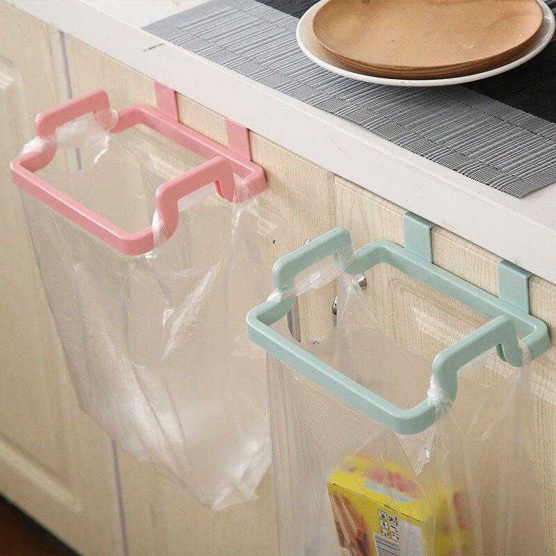 Müll Tasche Halterung Haken halter Kunststoff Küche Schlafzimmer Bad Desktop Wohnzimmer Empfang Müll Tasche Halterung Haushalt h1