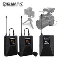 lavalier microphone g mark wireless go in ear monitor with 30 channels for asmr dslr camera interview youtuber phone vlog record