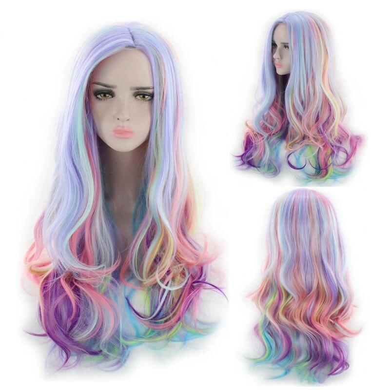 Nuevo Anime peluca gradiente olita lolita en helado Arco Iris cosplay my little pony ropa accesorios envío gratis