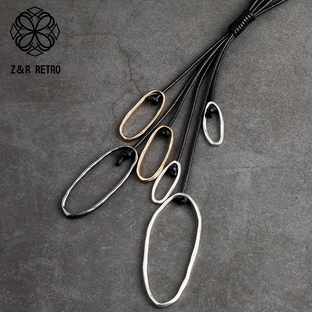 Collar de joyería larga de moda para mujeres, cadenas de cuerda, regalos de Metal para mujeres, gargantillas de cuello, collares y colgantes, collar de suspensión 2020