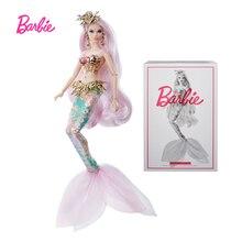 Poupée de collection Barbie, Muse de sirène grecque mystique, avec coiffure en corail et cheveux roses, jouet FXD51