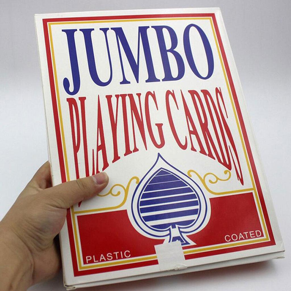 Cartas de jumbo de poker extra grandes, acessórios para show mágico, brinquedo divertido
