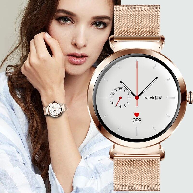 LIGE New Luxury Smart Watch Women Waterproof Sports Fitness Tracker For Android ios Reloj inteligente Fashion Women smart watch