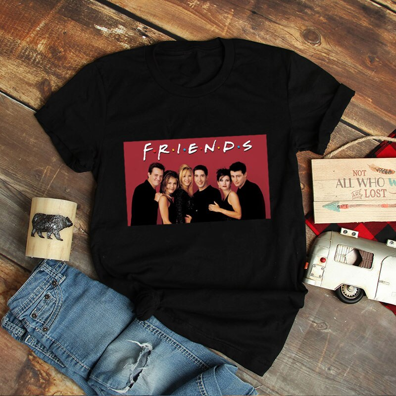 Friends TV Show Female T-shirt Aesthetic 90S Friend tshirt Ulzzang Tumblr Clothes Summer 2019 Streetwear Retro Graphic t shirts