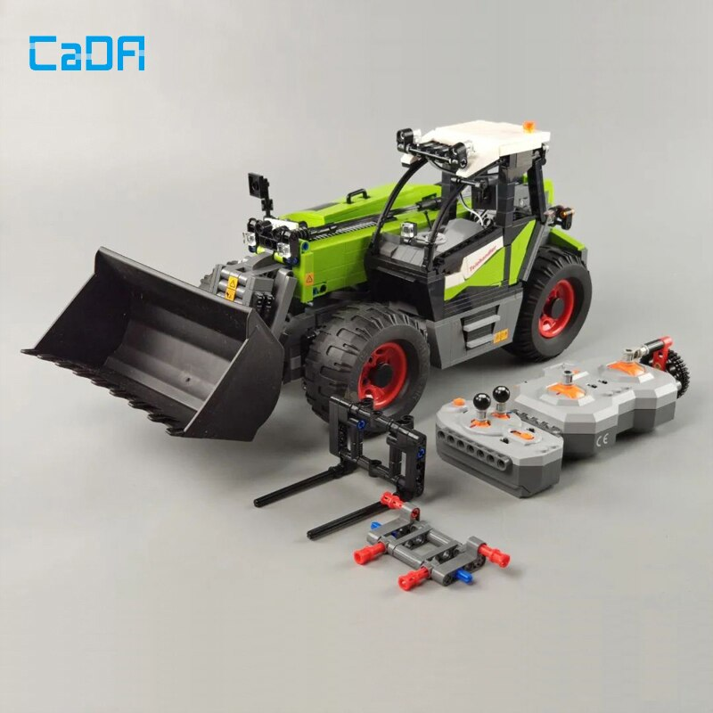 كادا التقنية 1469 قطعة RC محمل اللبنات نموذج MOC الزراعية آلة شاحنة تعمل بجهاز التحكم عن بعد الطوب سيارة بوي لعبة هدية