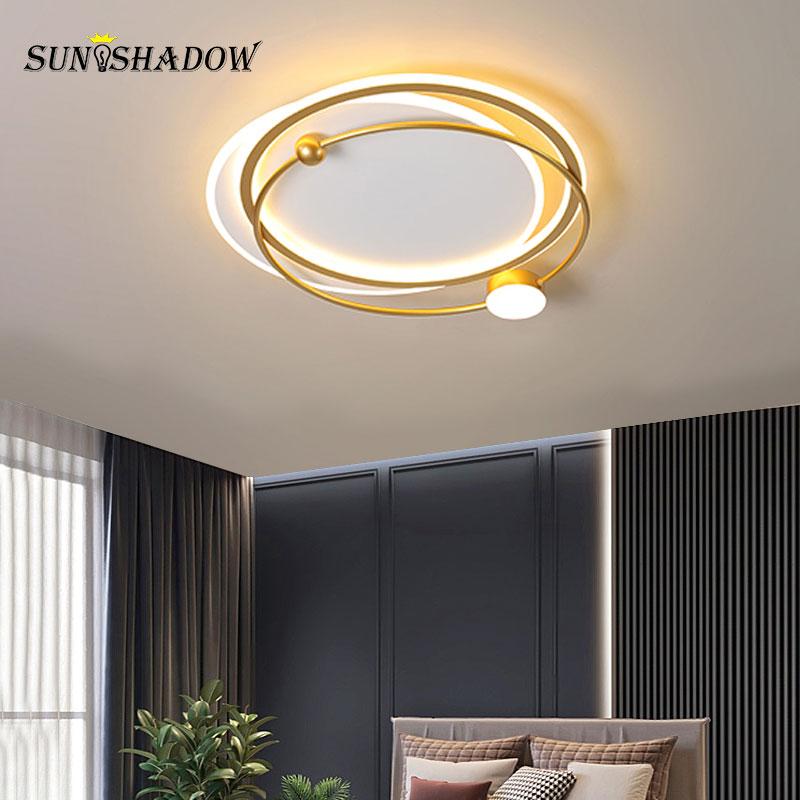 Современные светодиодные люстры металлическая Потолочная люстра светильник светильники для гостиной Спальня столовая Кухня домашние пот...