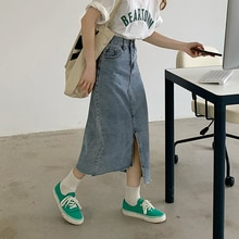 women jean skirt 6702#