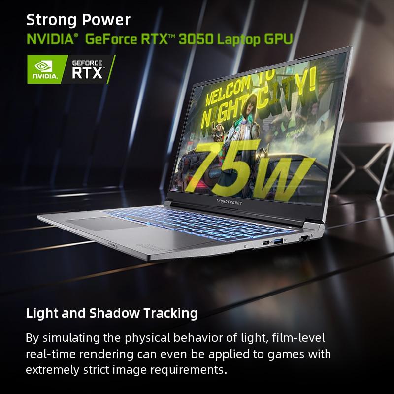 911Plus RTX3050 Gaming Laptop Intel Core 11th Gen 11800H 17 3 inch 144Hz Office Notebook Windows 10 pro 16G RAM 512G SSD Laptops 6