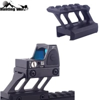 tactical 4 slots high profile riser mount fits 20mm picatinny weaver rail for hunting scope red dot laser sight flashlight