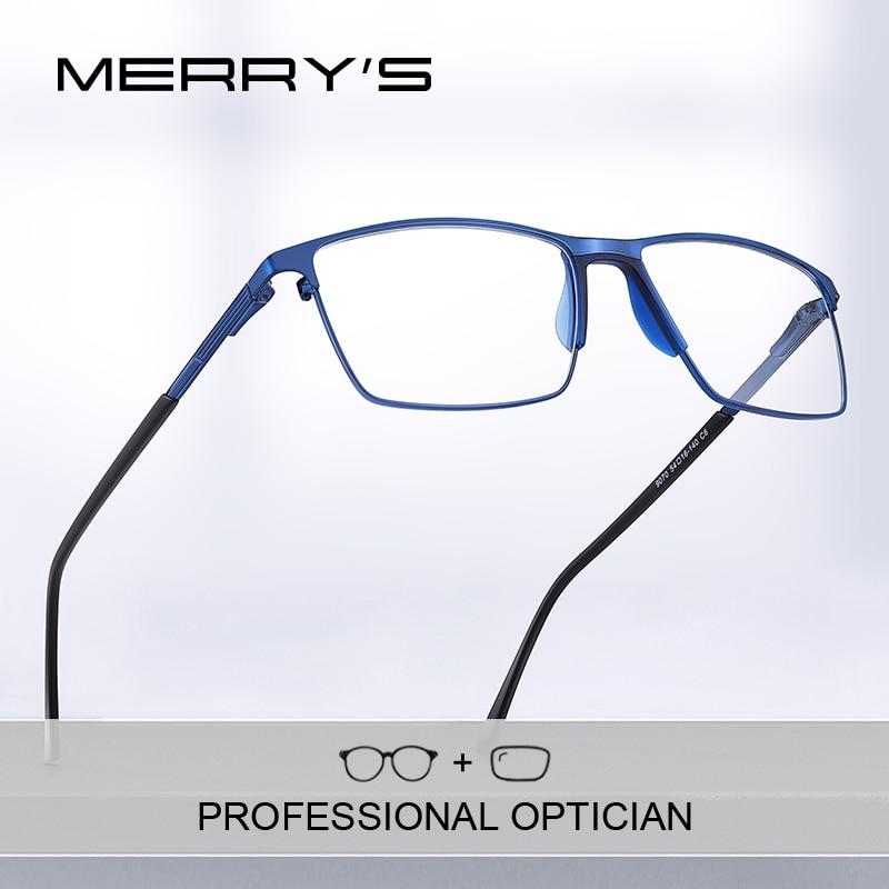 تصميم MERRYS-نظارات طبية للرجال من التيتانيوم لقصر النظر ، إطار كامل ، نمط عمل ، نظارات بصرية S2170PG
