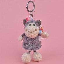 Grey Sheep Animals stuffed Pendant  Keyring Plush Toy, lamb Backpack Decoration  Keychain / Keyholder Gift
