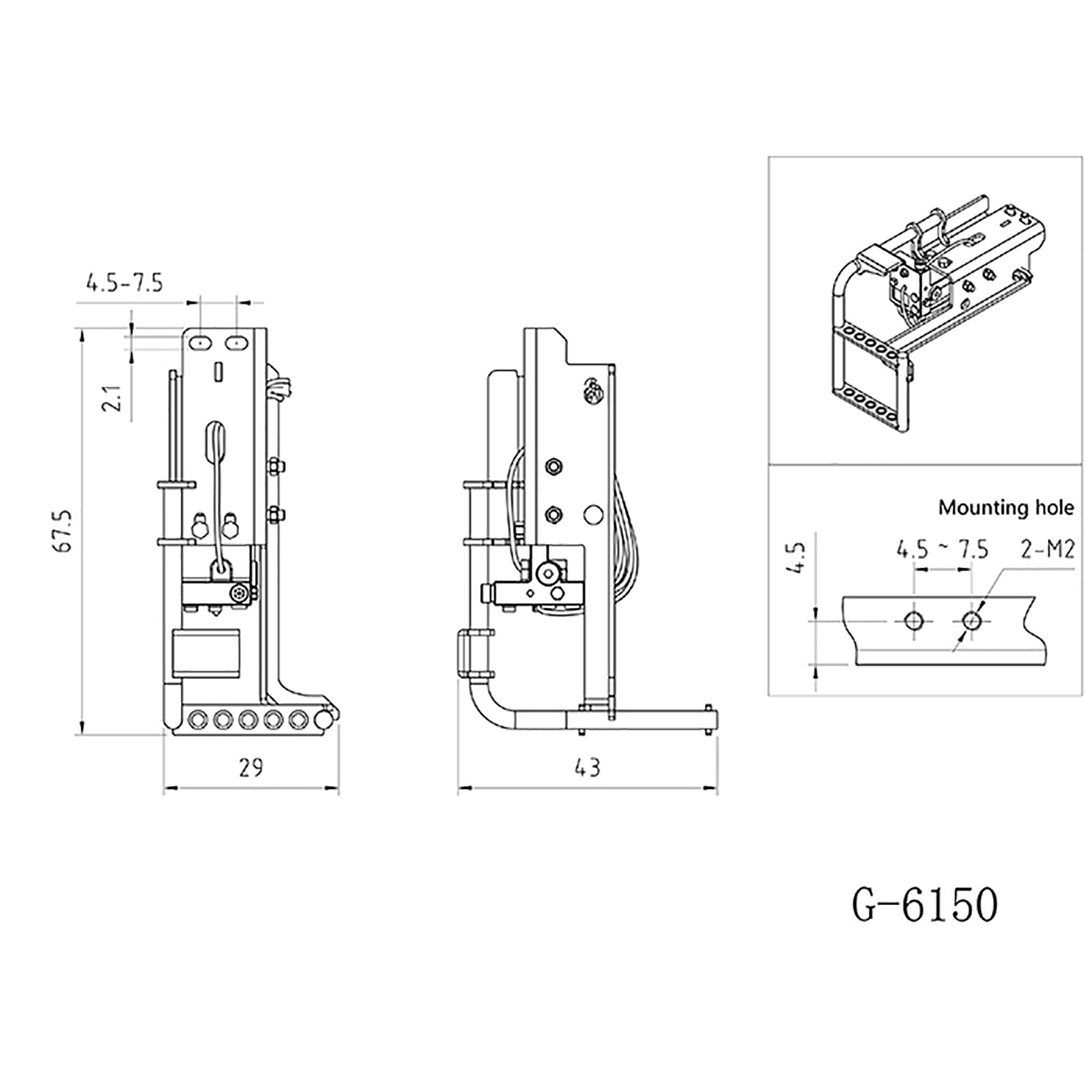 G-6150 Tamiya Tractor Volvo Car Pedal Metal for 1/14 Truck Durable Pedal Modified DIY Model enlarge