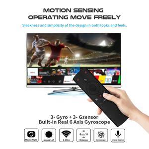 Image 2 - 2 шт./лот гироскопа голосового управления Air mouse ИК беспроводной пульт дистанционного управления Google Assistant смарт пульт дистанционного управления для Android tv box
