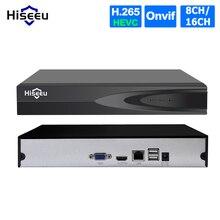 Hiseeu H.265 HEVC 8CH 16CH CCTV NVR dla 5MP/4MP/3MP/2MP ONVIF 2.0 IP kamera metalowa sieciowy rejestrator wideo P2P dla system cctv