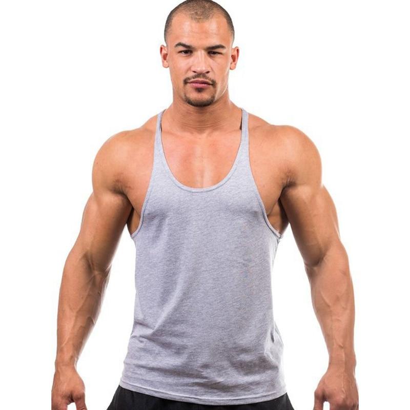 Marca de musculação tank top men stringer tank top fitness singlet sem mangas camisa treino homem undershirt roupas