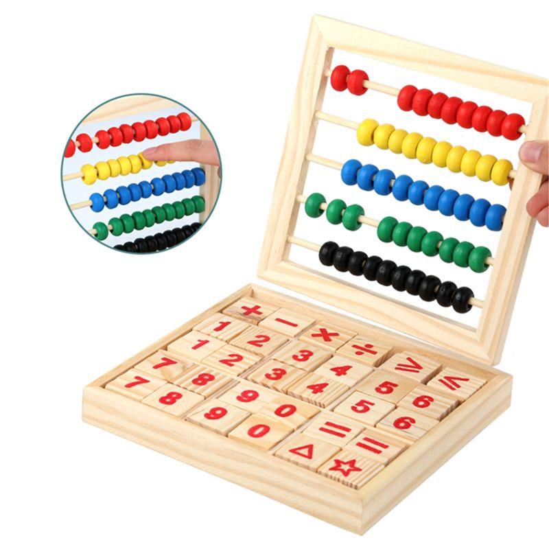 ¡La nave de la gota! Ábaco de madera niños contar números en matemáticas juguete de aprendizaje
